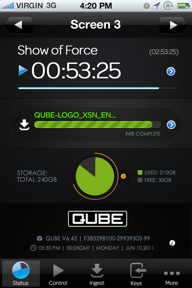 Qube User Interface for Android